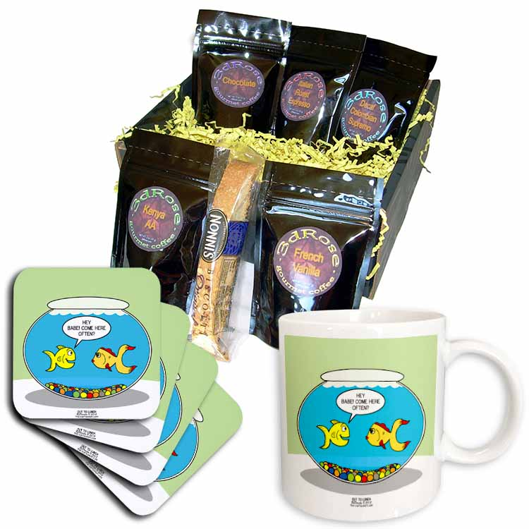 Fishbowl Pick-up Lines or 3 Second Memory Coffee Gift Basket