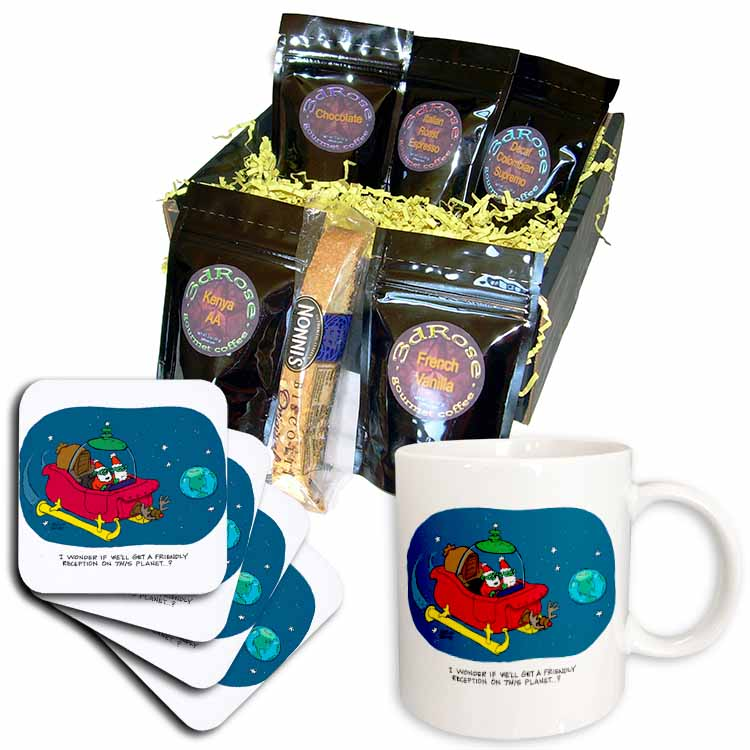 Nelson Dewey - Alien Craft Resembles Santas Sleigh Coffee Gift Basket