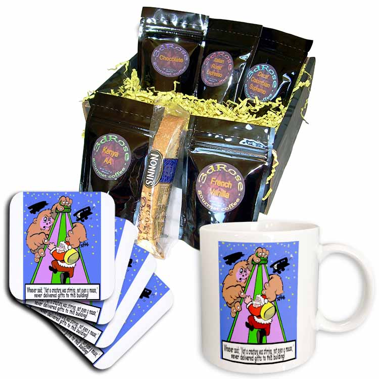 Ira Monroe - Santa Finds Some Buildings are Stirring More than a Mouse Coffee Gift Basket