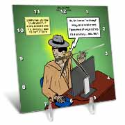 Invisible Man Internet Dating and Web Catfishing Desk Clock
