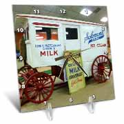 Vintage Milk Wagon Desk Clock