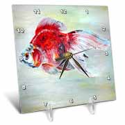 Fish Ryukin Goldfish Desk Clock