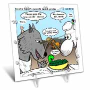 Isaiah 65 17 25 Cheese Tofu Bugers in Paradise Bible earth heaven paradise wolf sheep lamb lion Desk Clock