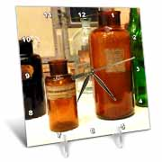 Vintage Bottles II Desk Clock