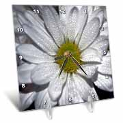 When You Wish Upon A Star. Graphic Art Design of a Fairy at Night wishing upon the stars Desk Clock