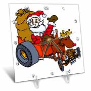 Nelson Deweys Reindeer Powered Santa Dragster Sleigh Desk Clock