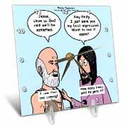 John 14 4 - 14 Philip and Jesus discuss what God is like Desk Clock