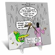 John 16 12 - 15 Jesus discusses sending paraclete which confuses a parakeet Desk Clock