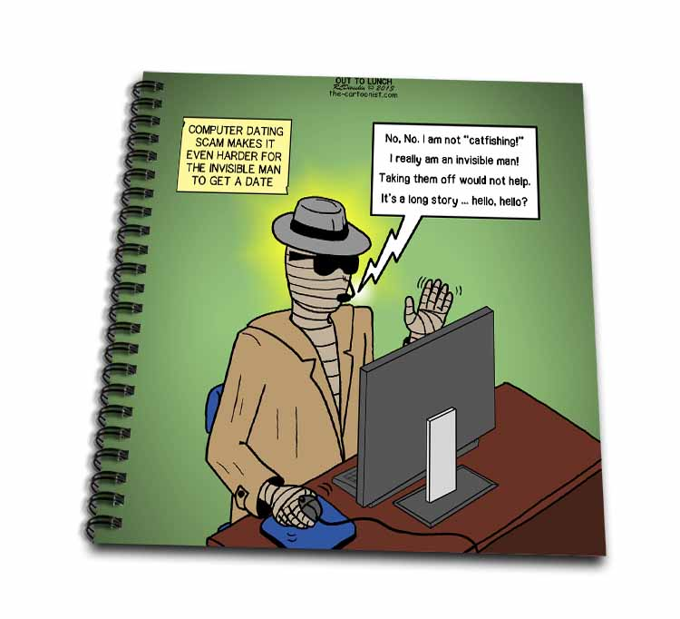 Invisible Man Internet Dating and Web Catfishing Drawing Book