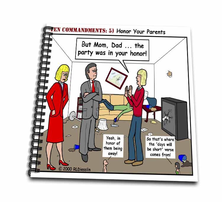 Ten Commandments 5 Honor Your Parents Drawing Book