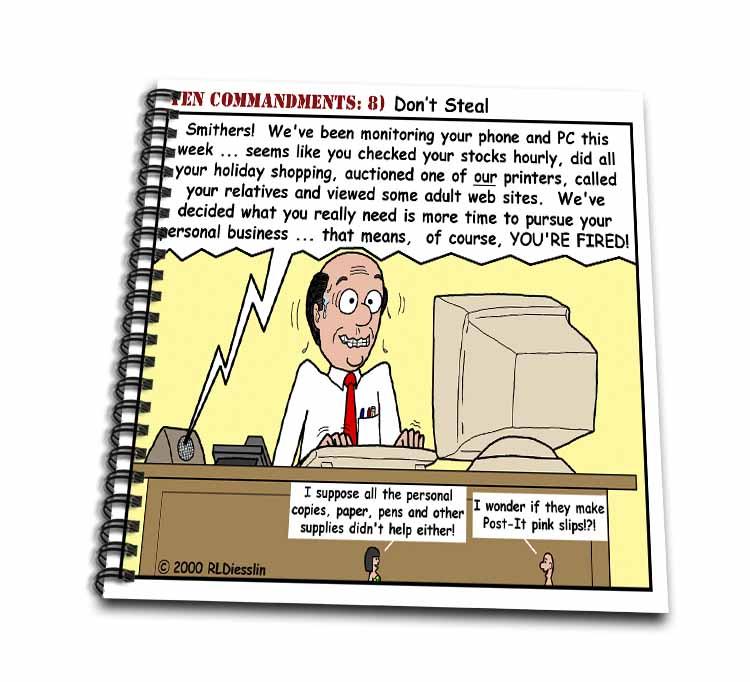 Ten Commandments 8 Dont Steal Drawing Book
