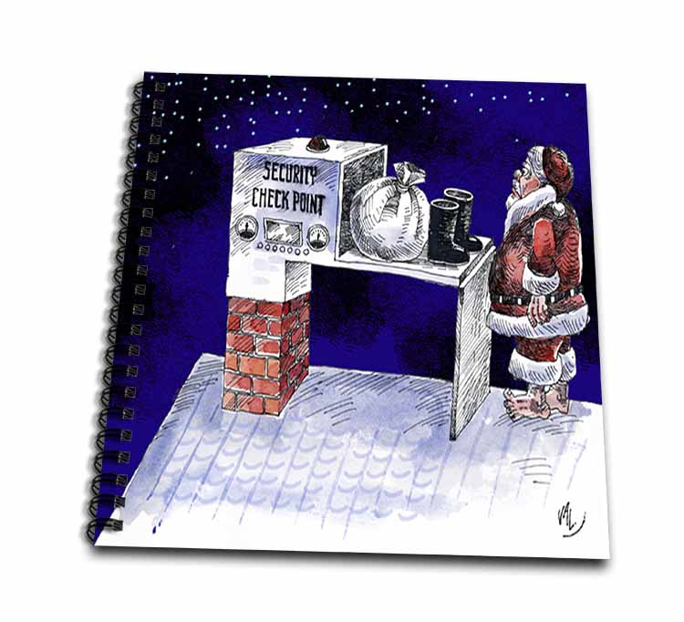 VAL - Santa Security Checkpoint Drawing Book