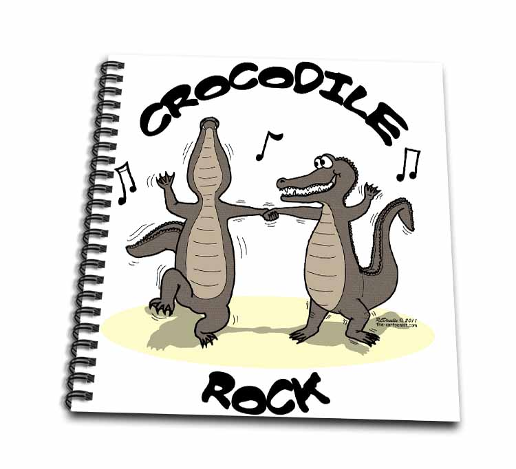 Out to Lunch Cartoon Crocodile Rock Drawing Book