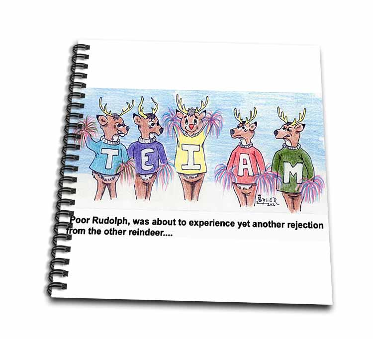 Kevin Edler Cartoon about Rudolphs Troubles for Christmas Drawing Book