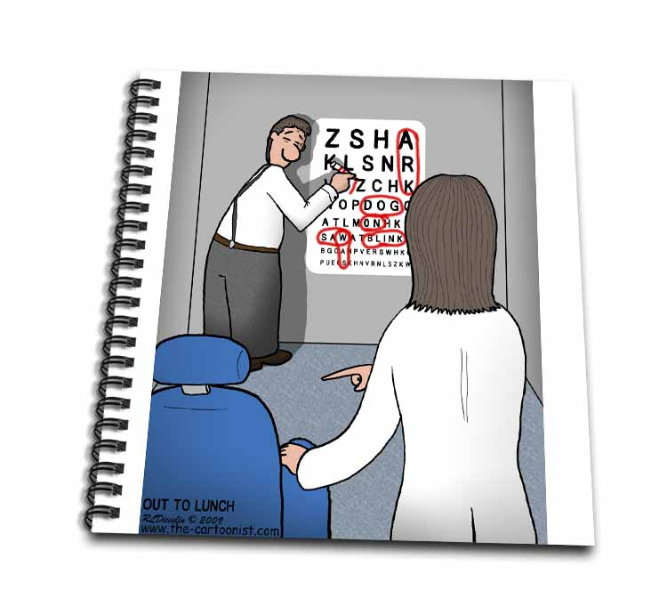 Eye Chart Word Search - Visit to the Eye Doctor Drawing Book