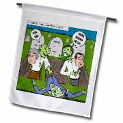 Halloween - Zombie Practical Jokes - Clinton and Nixon Masks Flag
