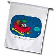 Nelson Dewey - Alien Craft Resembles Santas Sleigh Flag