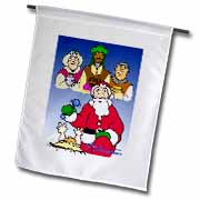 Larry Miller - Tribute to the Baby Jesus by the 3 Wisemen and Santa Flag