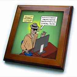 Invisible Man Internet Dating and Web Catfishing Framed Tile
