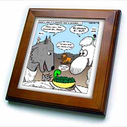 Isaiah 65 17 25 Cheese Tofu Bugers in Paradise Bible earth heaven paradise wolf sheep lamb lion Framed Tile