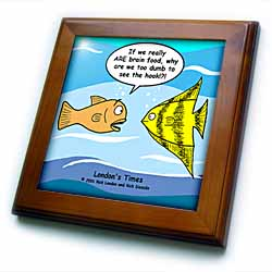 Are Fish Really Brain Food Framed Tile