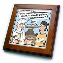 Ten Commandments, Origins Framed Tile