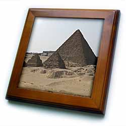 The Great Pyramids four Framed Tile