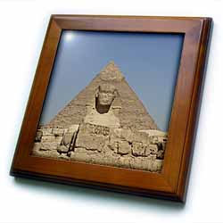 The Great Pyramids and Sphinx Framed Tile