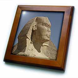 Sphinx up close Framed Tile