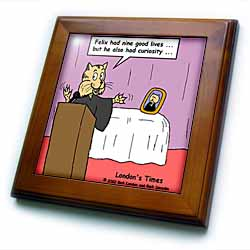Funeral For A Cat with apologies to elton john Framed Tile