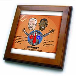 The problems with change ala Carter and Obama Framed Tile