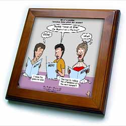 Mark 06-14-29 How To Get a Head in Life - Herodias and the Bad Menu Order Framed Tile
