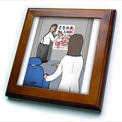 Eye Chart Word Search - Visit to the Eye Doctor Framed Tile