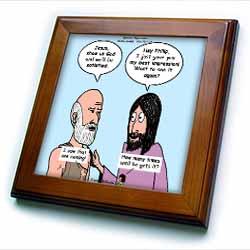 John 14 4 - 14 Philip and Jesus discuss what God is like Framed Tile