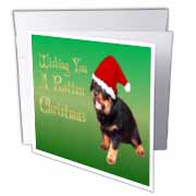 Photography Rottweiler Christmas Greeting Card