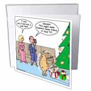 Bad Christmas Present Idea - Funniest Home Videos Greeting Card