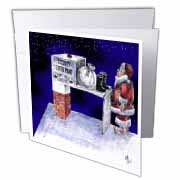 VAL - Santa Security Checkpoint Greeting Card