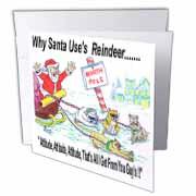 Kevin Edler, Why Santa Uses Reindeer  Greeting Card