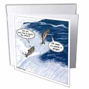 Salmon Spawning Advice Greeting Card