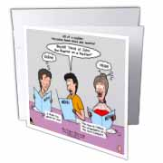 Mark 06-14-29 How To Get a Head in Life - Herodias and the Bad Menu Order Greeting Card