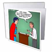 Regular 8 Hotel vs. Super 8 Hotel Greeting Card