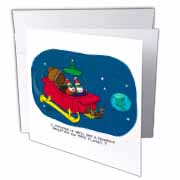 Nelson Dewey - Alien Craft Resembles Santas Sleigh Greeting Card