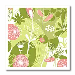 Pink and Green Floral Iron on Heat Transfer