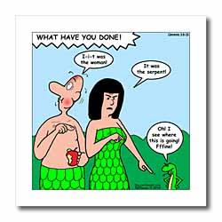 Genesis 3 8 19 The Blame Game Bible genesis 3 8 19 Adam Eve man woman serpent snake garden apple Iron on Heat Transfer