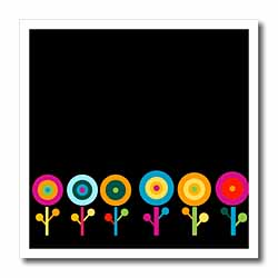 Bright Blooms on Black Iron on Heat Transfer
