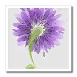 Purple Watercolor Flowers Iron on Heat Transfer
