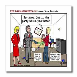 Ten Commandments 5 Honor Your Parents Iron on Heat Transfer