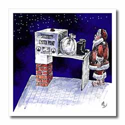 VAL - Santa Security Checkpoint Iron on Heat Transfer