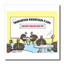 Turkeys at a Vegetarian Restaurant Iron on Heat Transfer