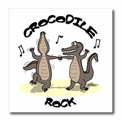 Out to Lunch Cartoon Crocodile Rock Iron on Heat Transfer